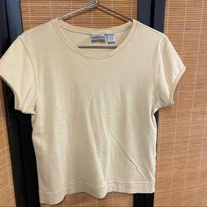 Chico's yellow T-shirt